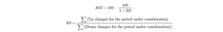 فرمول محاسبه اندیکاتور RSI