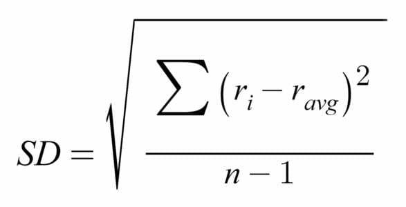 فرمول انحراف معیار یا انحراف استاندارد